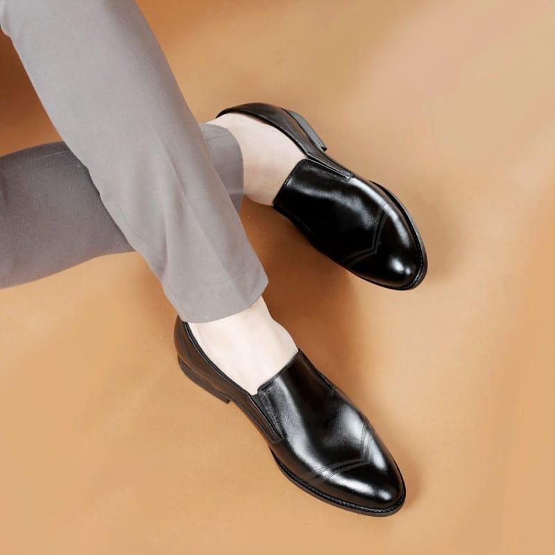 Giày tây nam tăng chiều cao Da xịn cho dân công sở