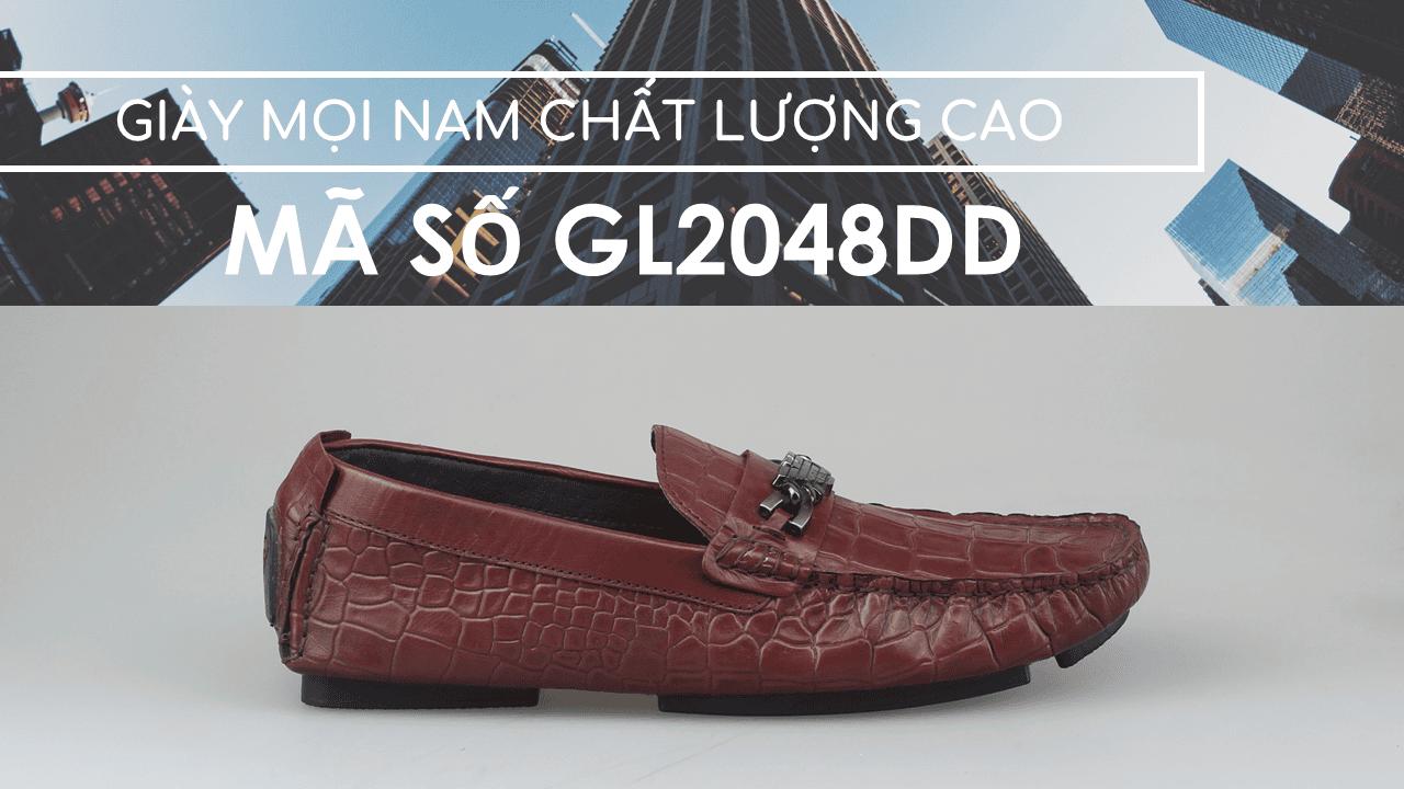 giày lười nam hoa văn da cá sấu GL2048DD1