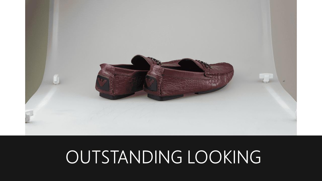giày lười nam hoa văn da cá sấu GL2048DD10