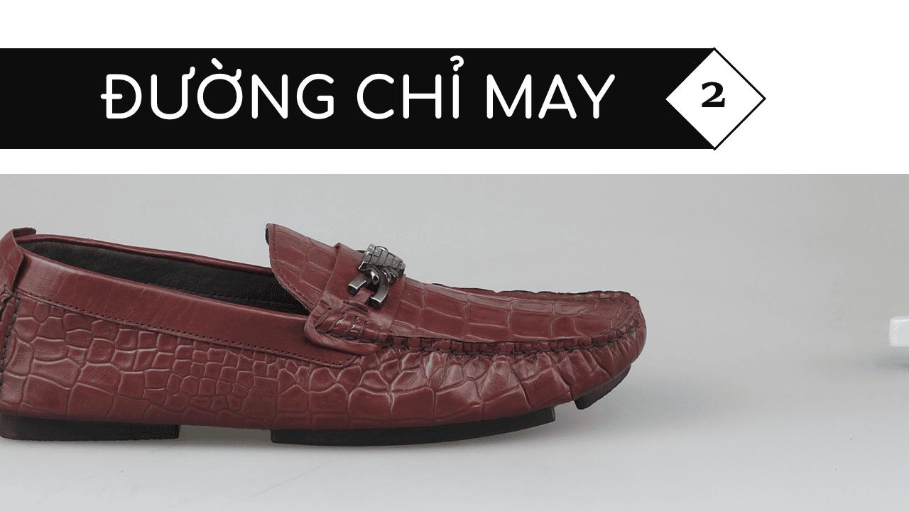 giày lười nam hoa văn da cá sấu GL2048DD5