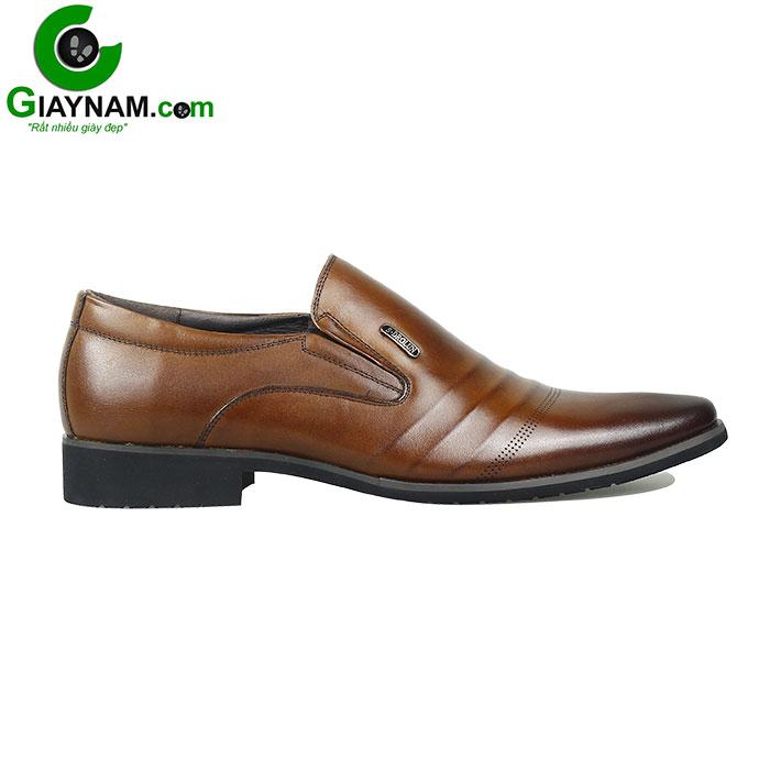 Giày lười công sở SDrolun màu nâu vàng bò mới nhất mã GL21817N1