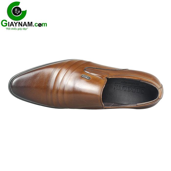 Giày lười công sở SDrolun màu nâu vàng bò mới nhất mã GL21817N3