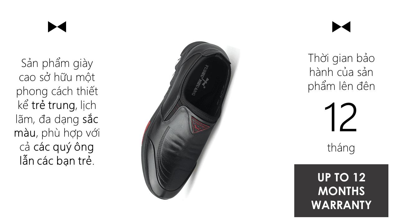 Giày cao siêu việt nâng đế 7cm ưu điểm vượt trội cho nam giới 2018 GCL65198D11