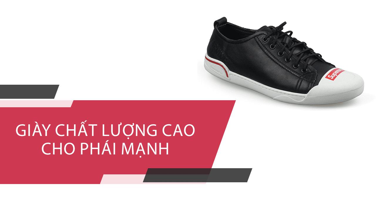 Giày buộc dây màu đen đế trắng phong cách thời trang 2018; Mã số BD3287D1