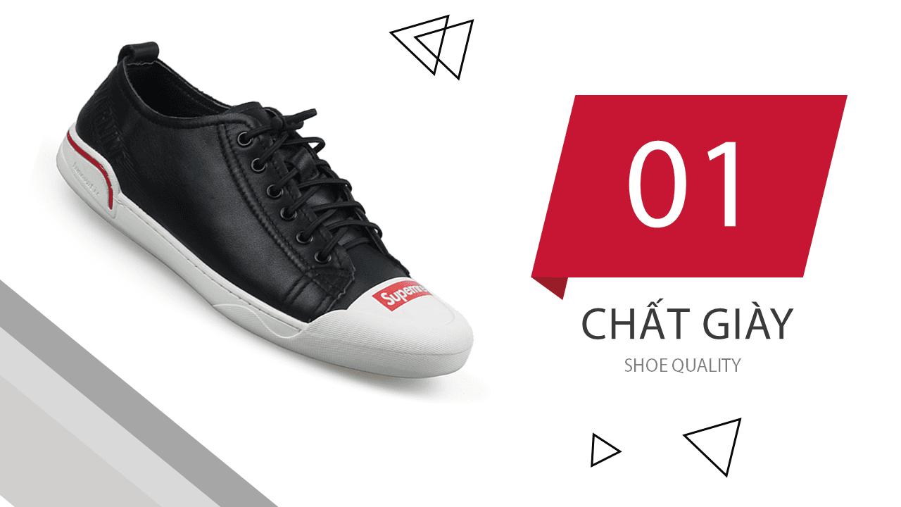 Giày buộc dây màu đen đế trắng phong cách thời trang 2018; Mã số BD3287D5