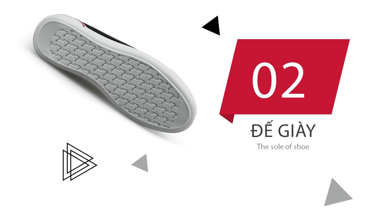 Giày buộc dây màu đen đế trắng phong cách thời trang 2018; Mã số BD3287D7