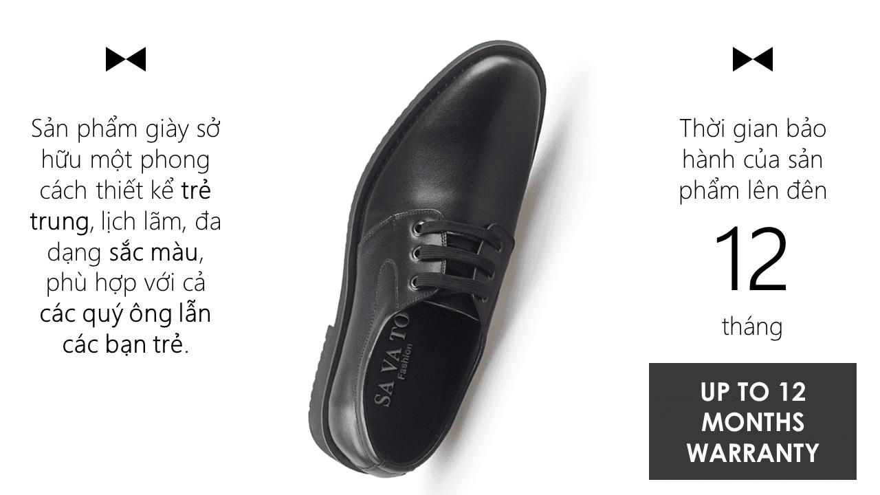 Giày buộc dây hoa văn tinh xảo mũi vểnh màu đen 2018 BD002D10