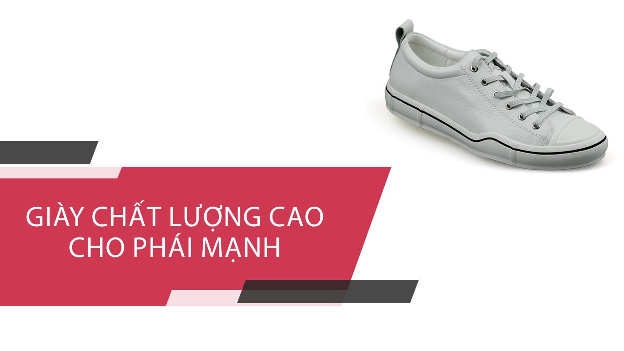 Giày buộc dây màu trắng bạch mã thương hiệu luminhguei chính hãng 2018 BD1210T1