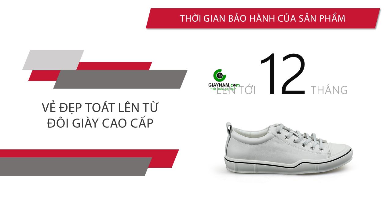 Giày buộc dây màu trắng bạch mã thương hiệu luminhguei chính hãng 2018 BD1210T10