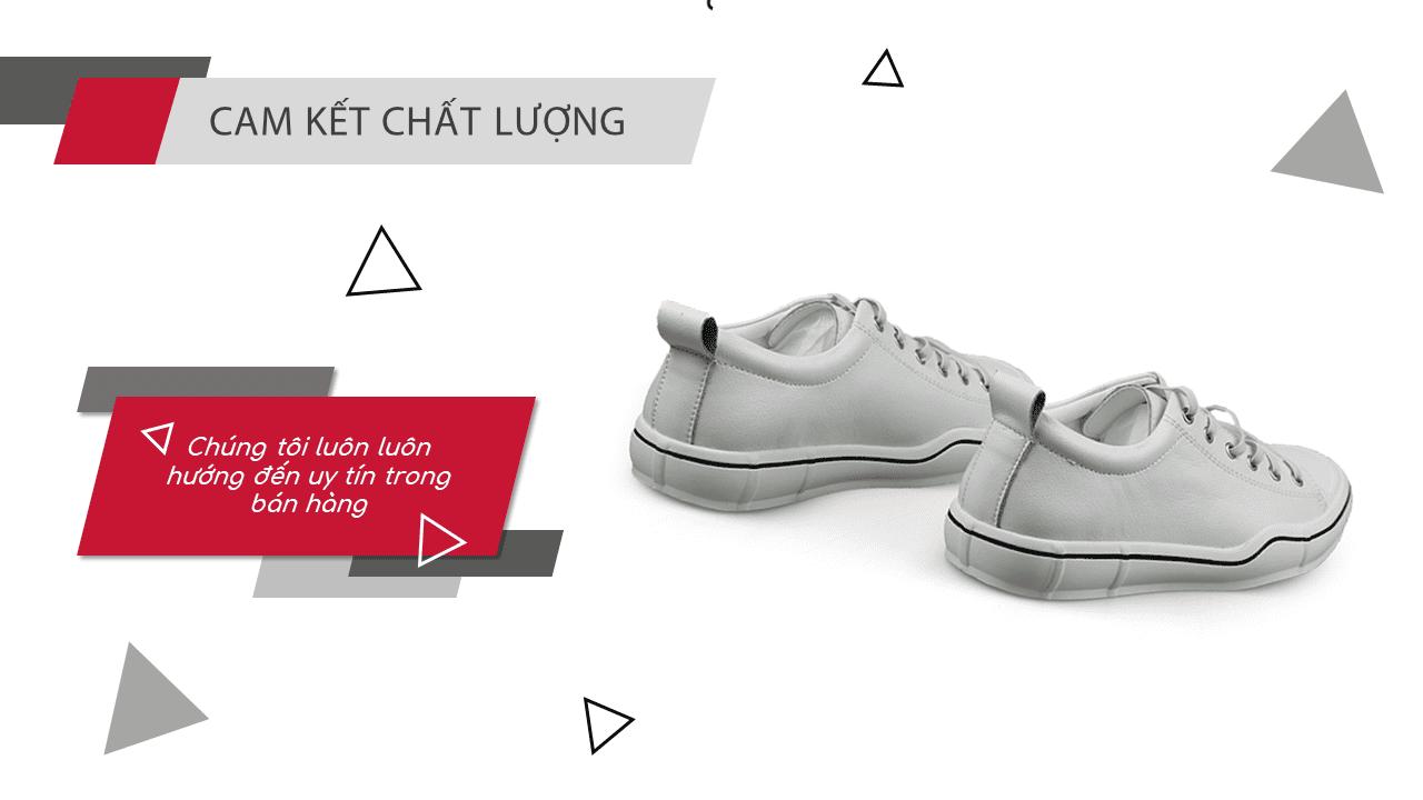 Giày buộc dây màu trắng bạch mã thương hiệu luminhguei chính hãng 2018 BD1210T12