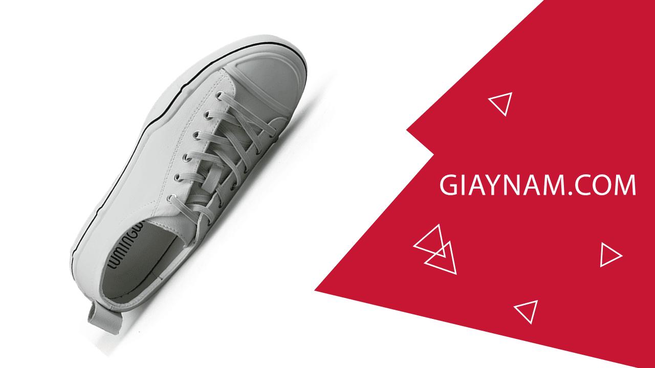 Giày buộc dây màu trắng bạch mã thương hiệu luminhguei chính hãng 2018 BD1210T2