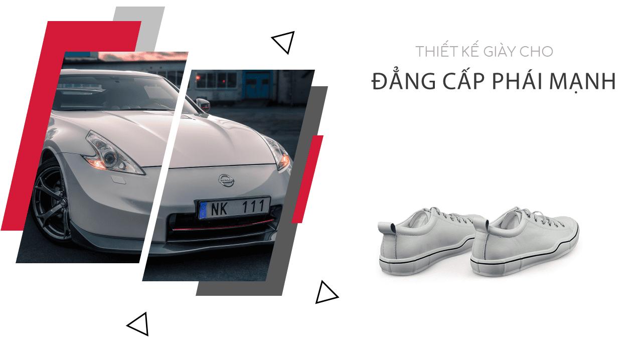 Giày buộc dây màu trắng bạch mã thương hiệu luminhguei chính hãng 2018 BD1210T4