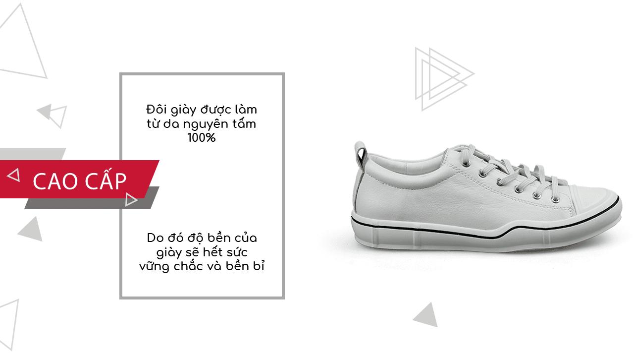 Giày buộc dây màu trắng bạch mã thương hiệu luminhguei chính hãng 2018 BD1210T6