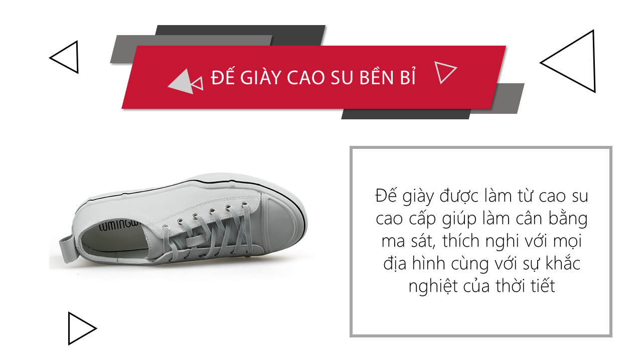 Giày buộc dây màu trắng bạch mã thương hiệu luminhguei chính hãng 2018 BD1210T8