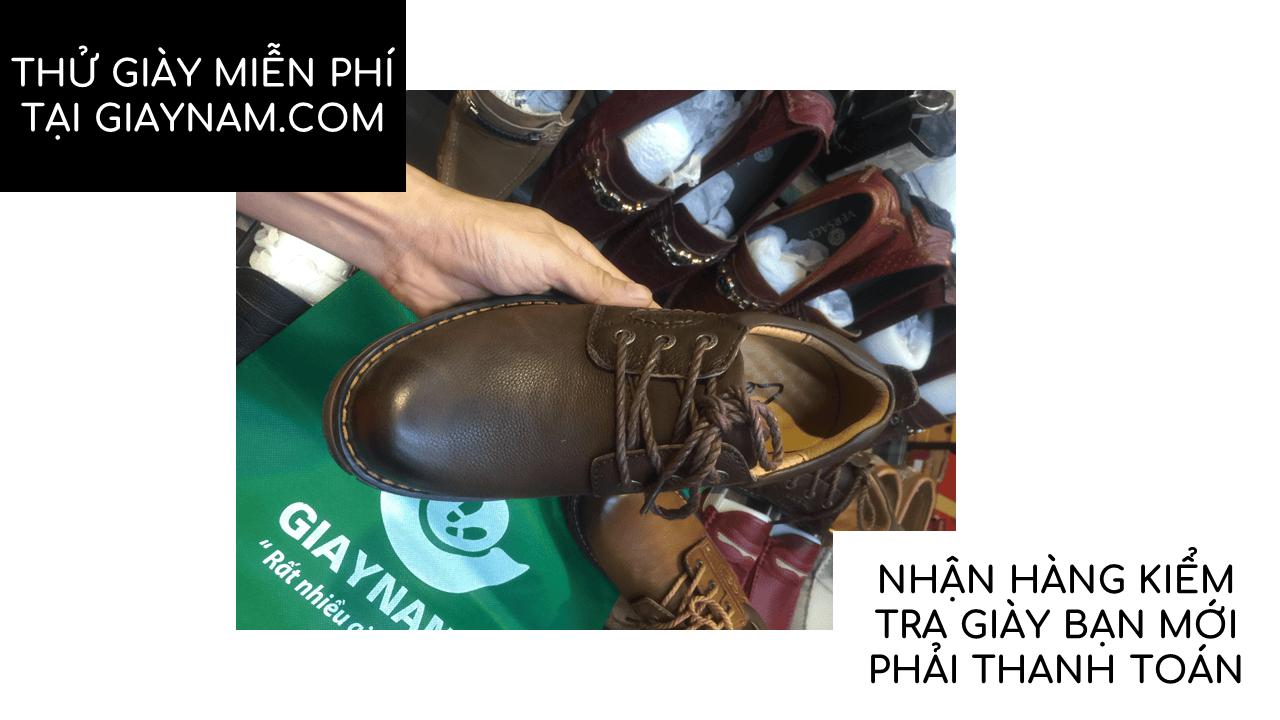 Giày buộc dây kiểu dáng doctor marten màu nâu huyền bí mùa đông 2018; Mã số BD2020N15