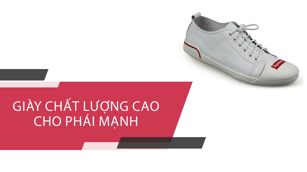 Giày buộc dây thể thao suppreme thời trang viền đỏ 2018; Mã số BD3298T1