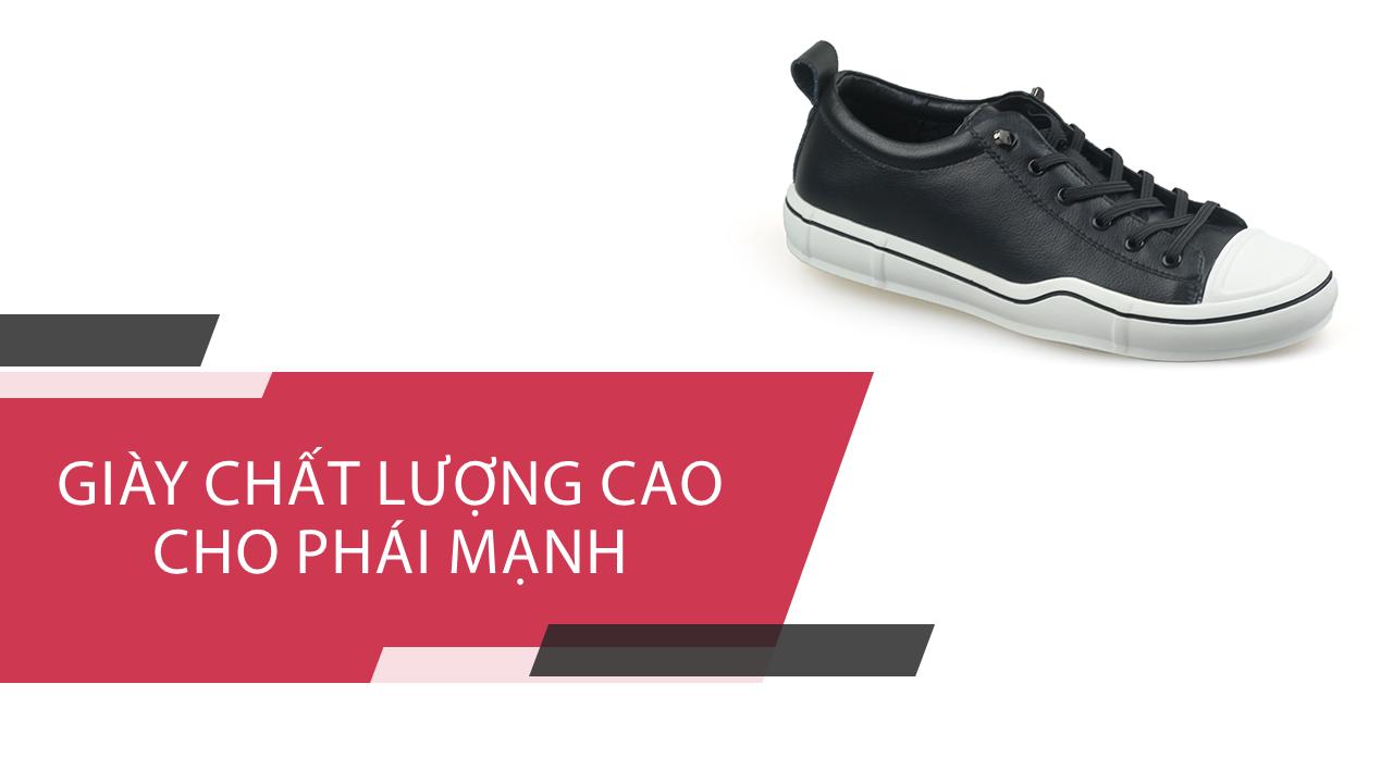 Giày buộc dây thời trang thương hiệu luminguei cao cấp chính hãng màu đen trắng BD1210T1