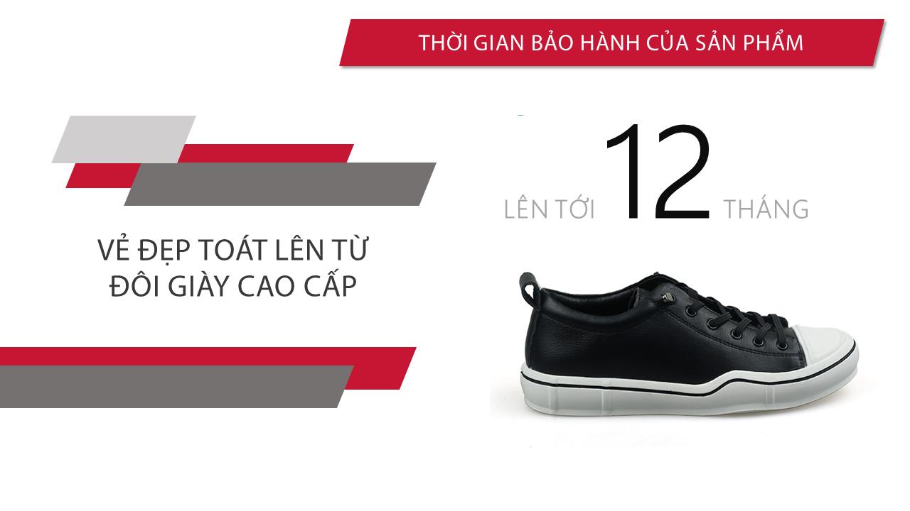 Giày buộc dây thời trang thương hiệu luminguei cao cấp chính hãng màu đen trắng BD1210T10