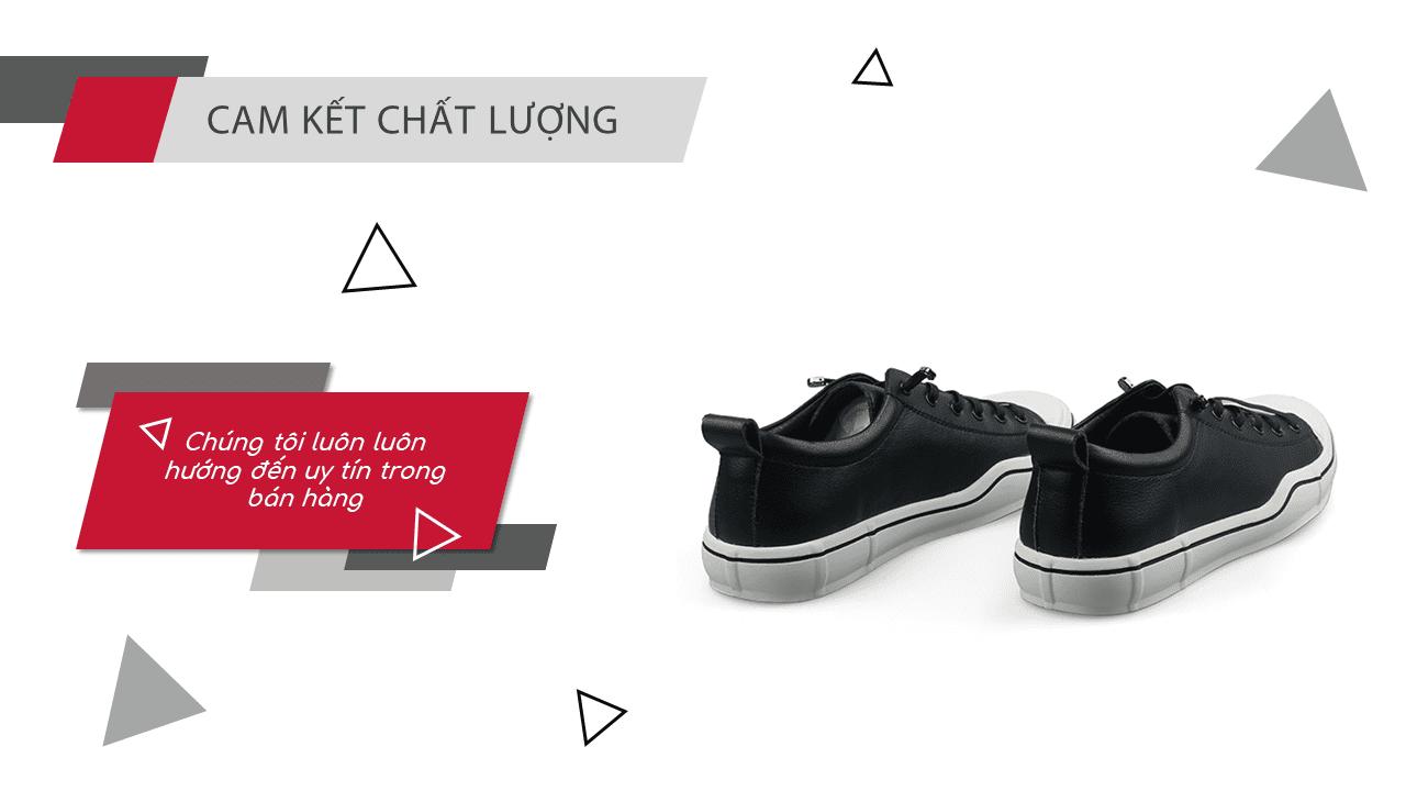 Giày buộc dây thời trang thương hiệu luminguei cao cấp chính hãng màu đen trắng BD1210T12