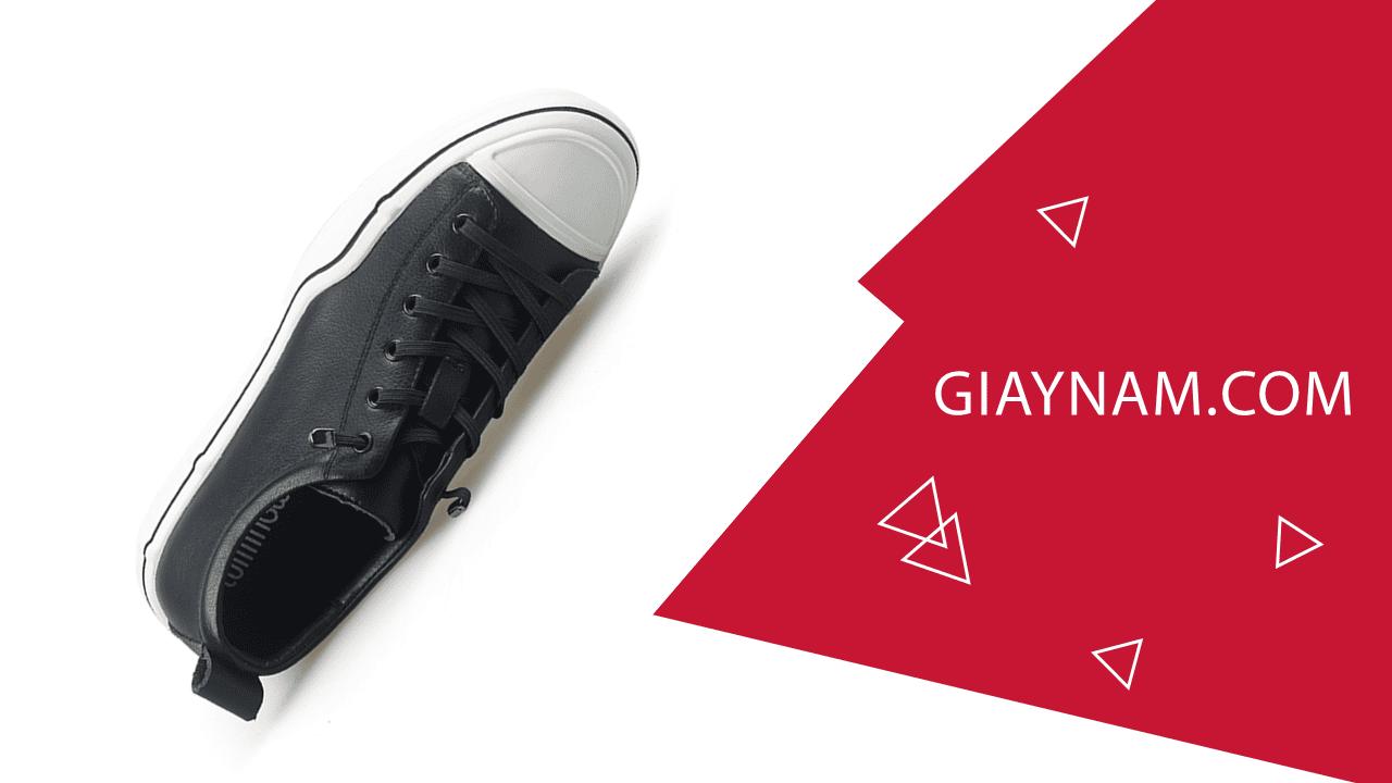 Giày buộc dây thời trang thương hiệu luminguei cao cấp chính hãng màu đen trắng BD1210T2