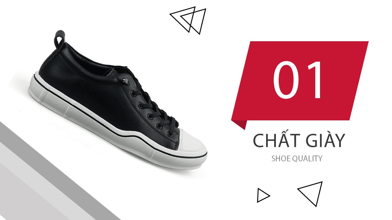 Giày buộc dây thời trang thương hiệu luminguei cao cấp chính hãng màu đen trắng BD1210T5