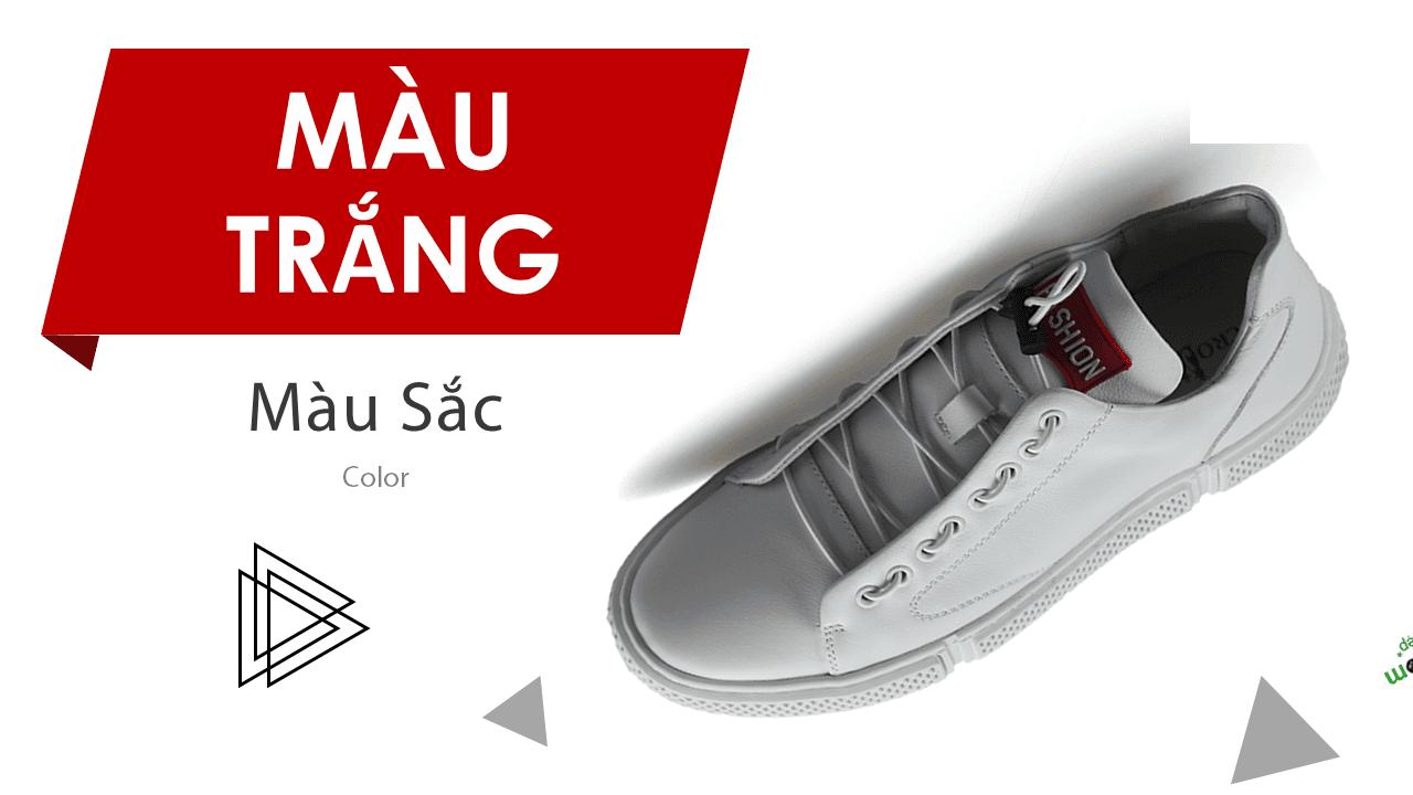 Giày buộc dây màu đỏ cá tính mạnh phong cách thể thao năng động 15