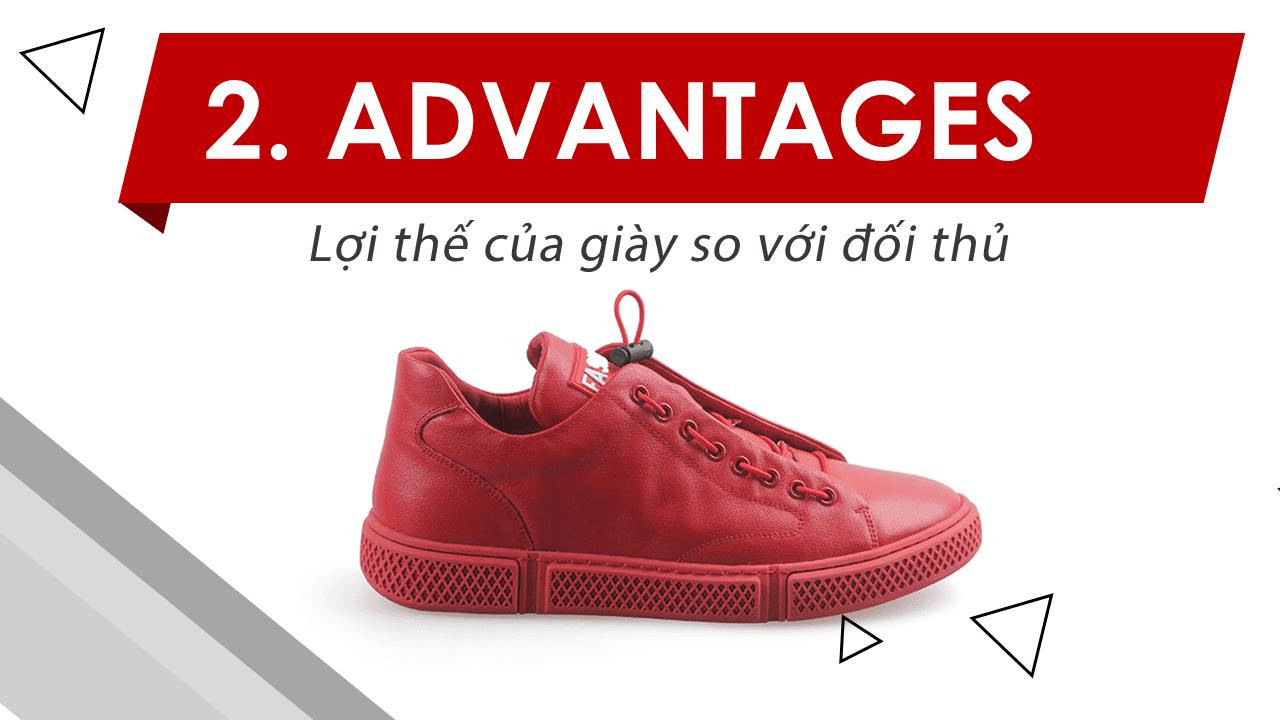 Giày buộc dây màu đỏ cá tính mạnh phong cách thể thao năng động 8