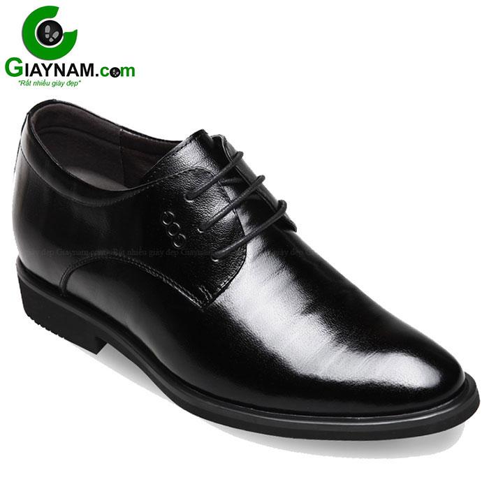 Giày cao công sở GOG buộc dây cao cấp đen mã GCD969601D
