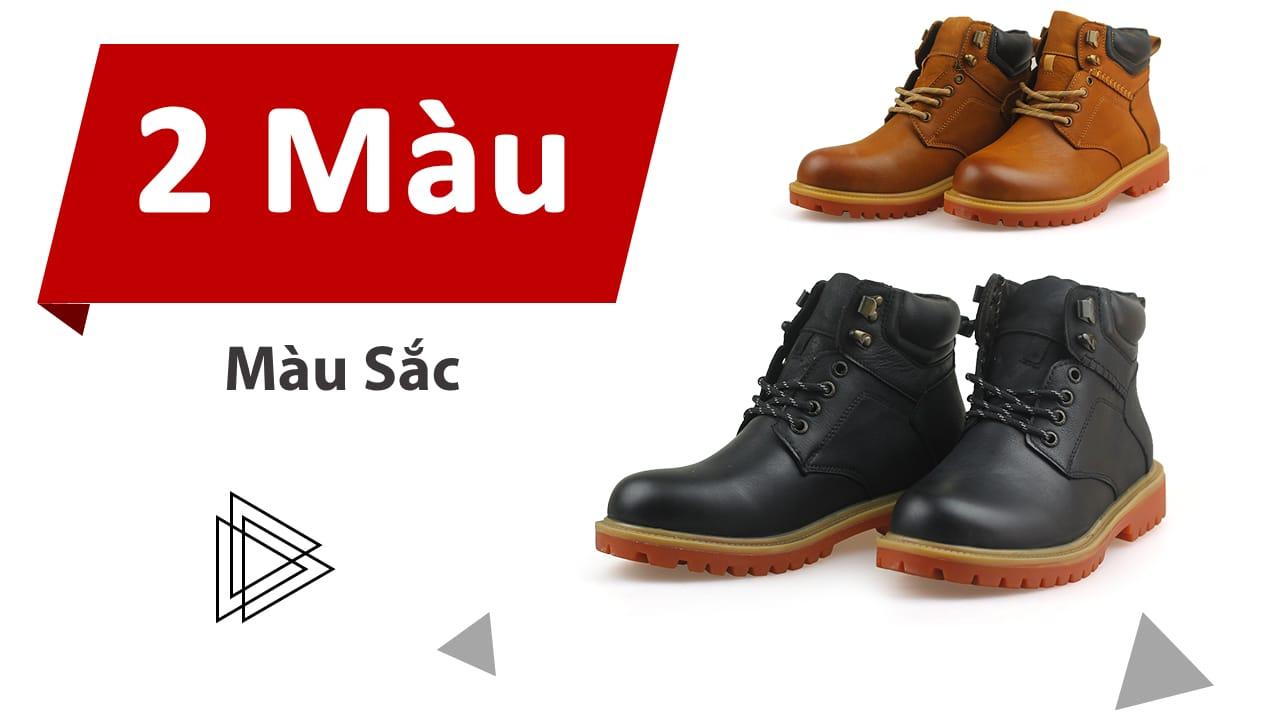 Giày boot nam da bò Hà Nội