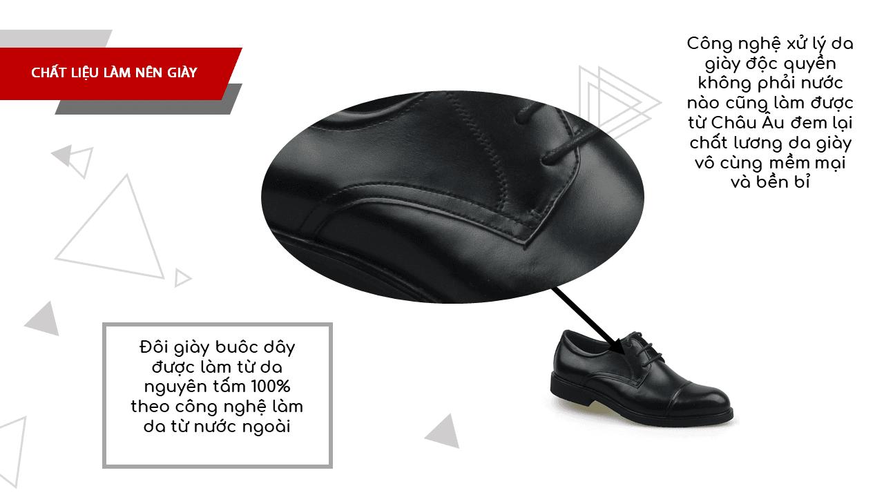Giày da nam công sở màu đen lịch lãm nhập khẩu 2018-5