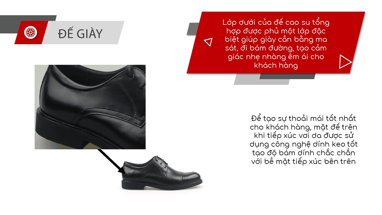 Giày da nam công sở màu đen lịch lãm nhập khẩu 2018-6