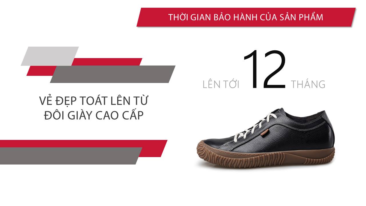 Giày đế mềm cao 6,5cm màu chocolate trẻ trung năng động BD68663N10
