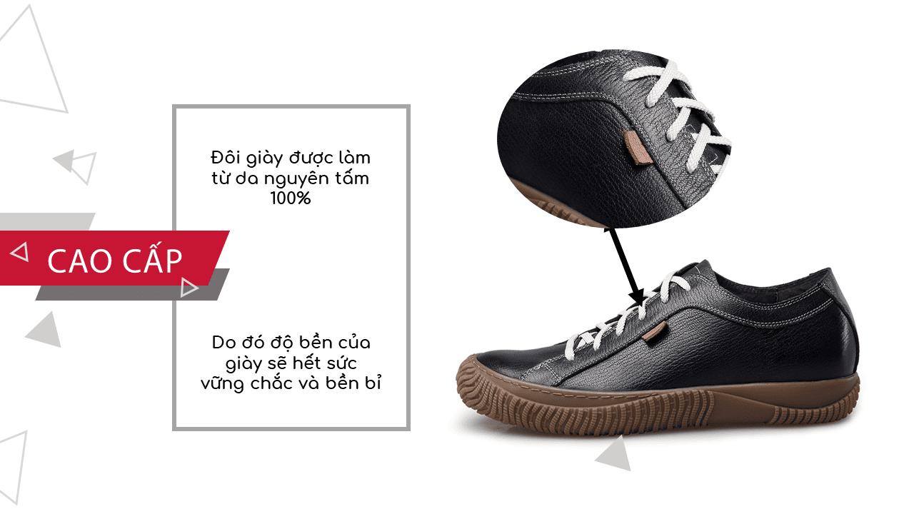 Giày đế mềm cao 6,5cm màu chocolate trẻ trung năng động BD68663N6