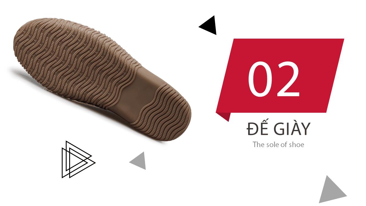 Giày đế mềm cao 6,5cm màu chocolate trẻ trung năng động BD68663N7