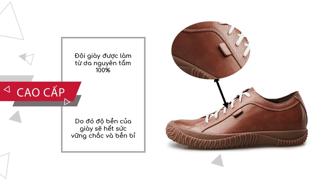 Giày cao đế mềm thương hiệu GOG màu nâu dây trắng thời trang 2018 BD68665N6