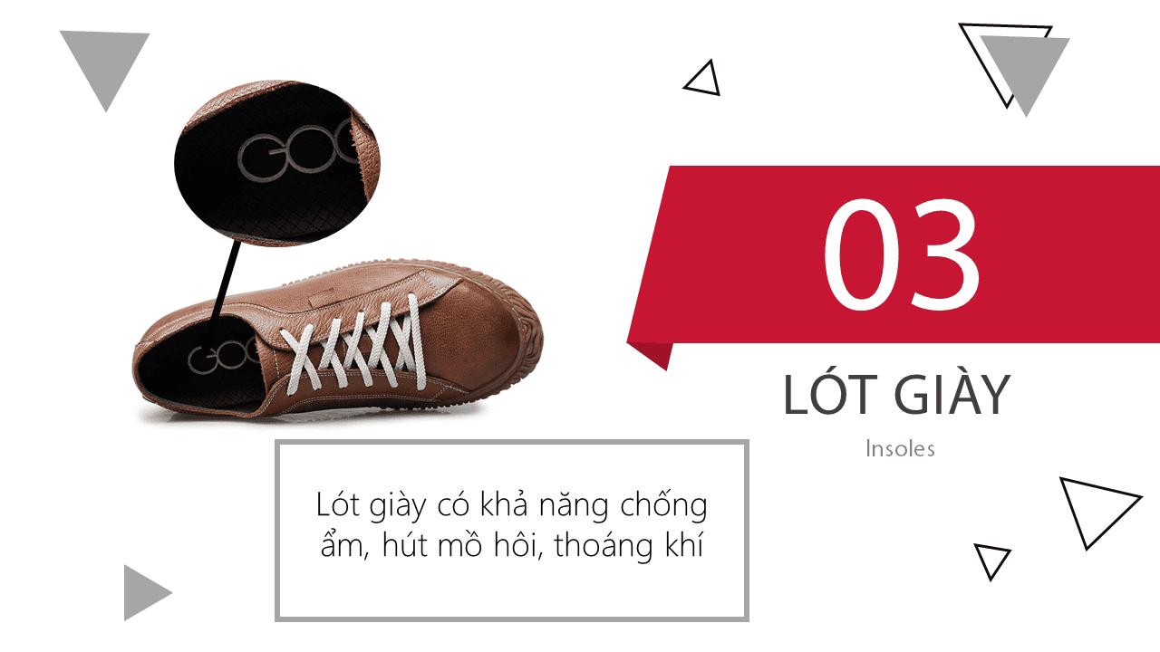 Giày cao đế mềm thương hiệu GOG màu nâu dây trắng thời trang 2018 BD68665N9