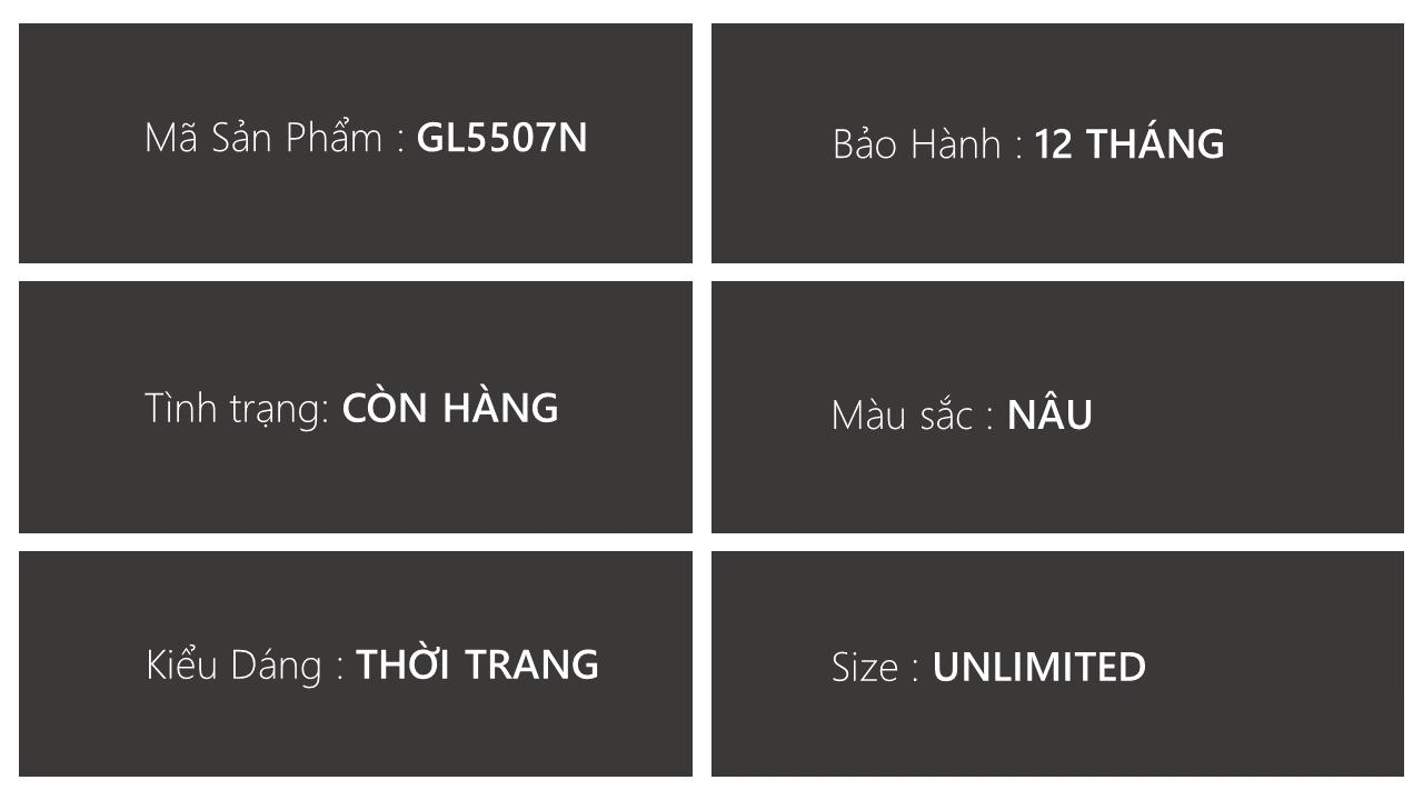 Giày lười thời trang màu nâu thời thượng 2018 nhập khẩu; Mã số GL5507N3