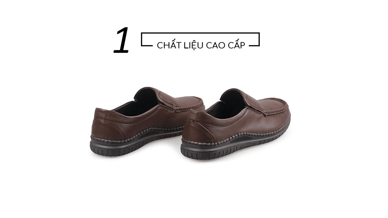 Giày lười thời trang màu nâu thời thượng 2018 nhập khẩu; Mã số GL5507N4