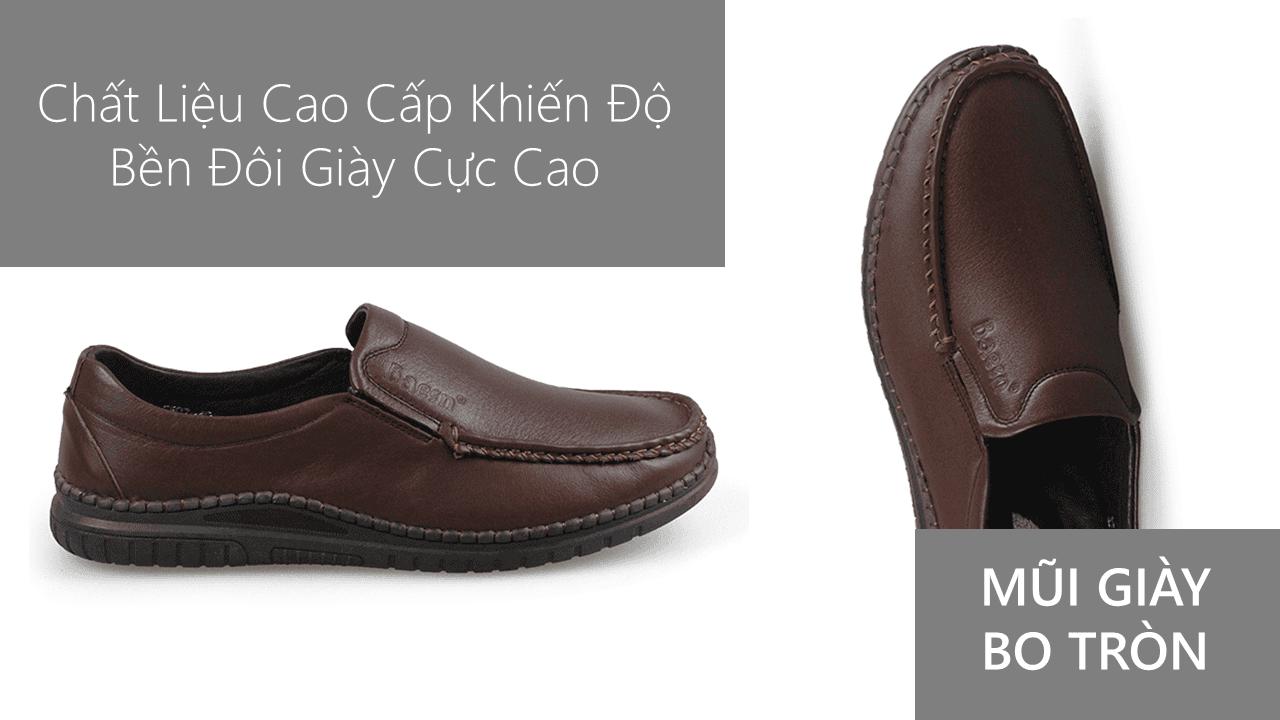 Giày lười thời trang màu nâu thời thượng 2018 nhập khẩu; Mã số GL5507N5