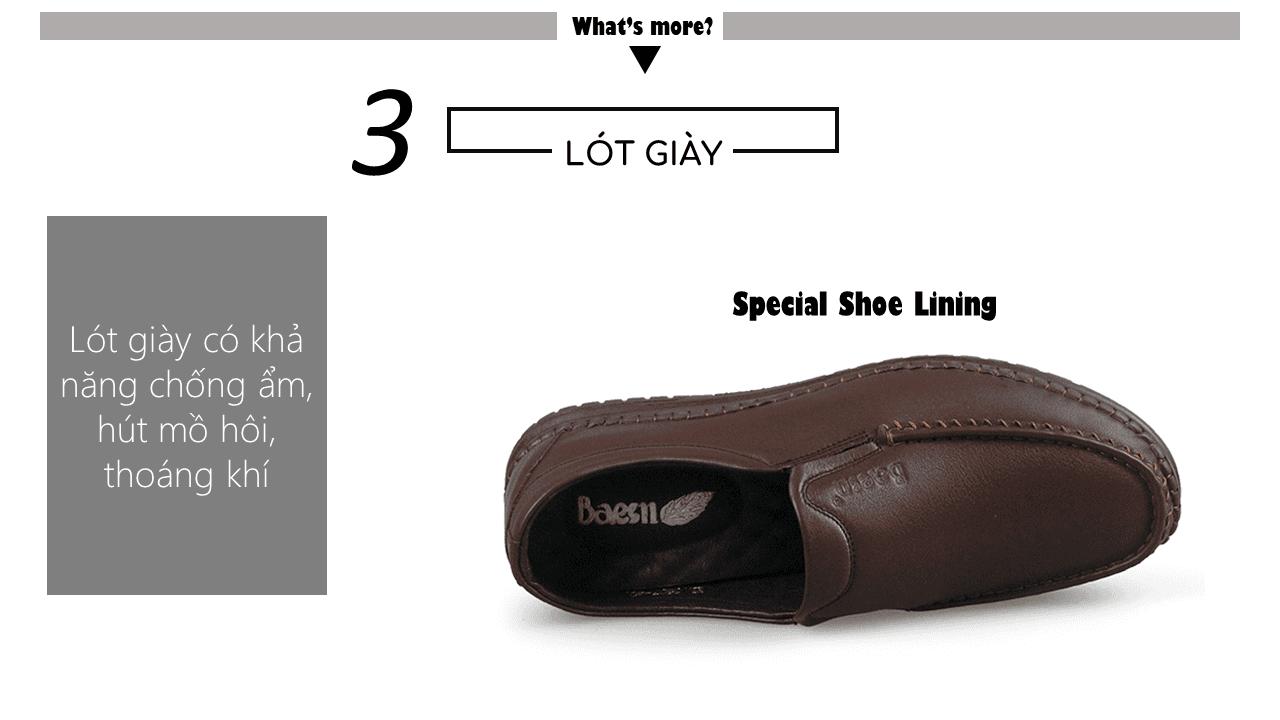 Giày lười thời trang màu nâu thời thượng 2018 nhập khẩu; Mã số GL5507N7