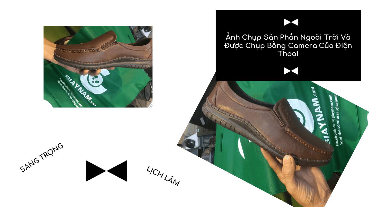 Giày lười thời trang màu nâu thời thượng 2018 nhập khẩu; Mã số GL5507N9