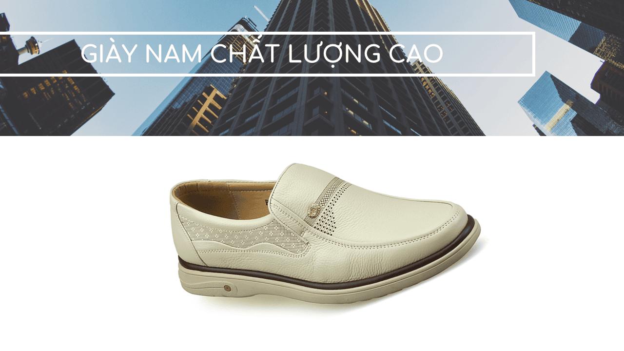 Giày lười màu trắng quý phải rành riêng cho phái mạnh GL88823T1
