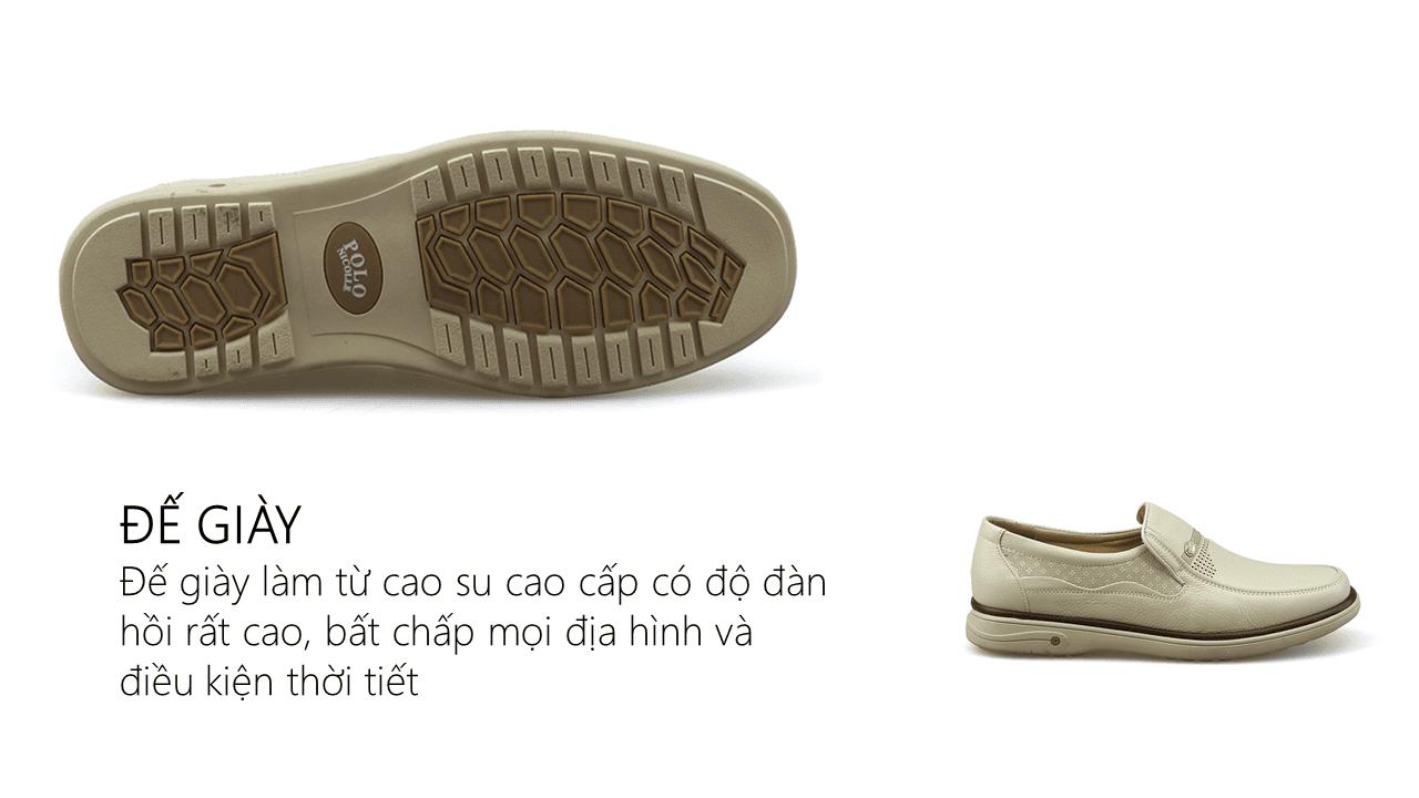 Giày lười màu trắng quý phải rành riêng cho phái mạnh GL88823T3
