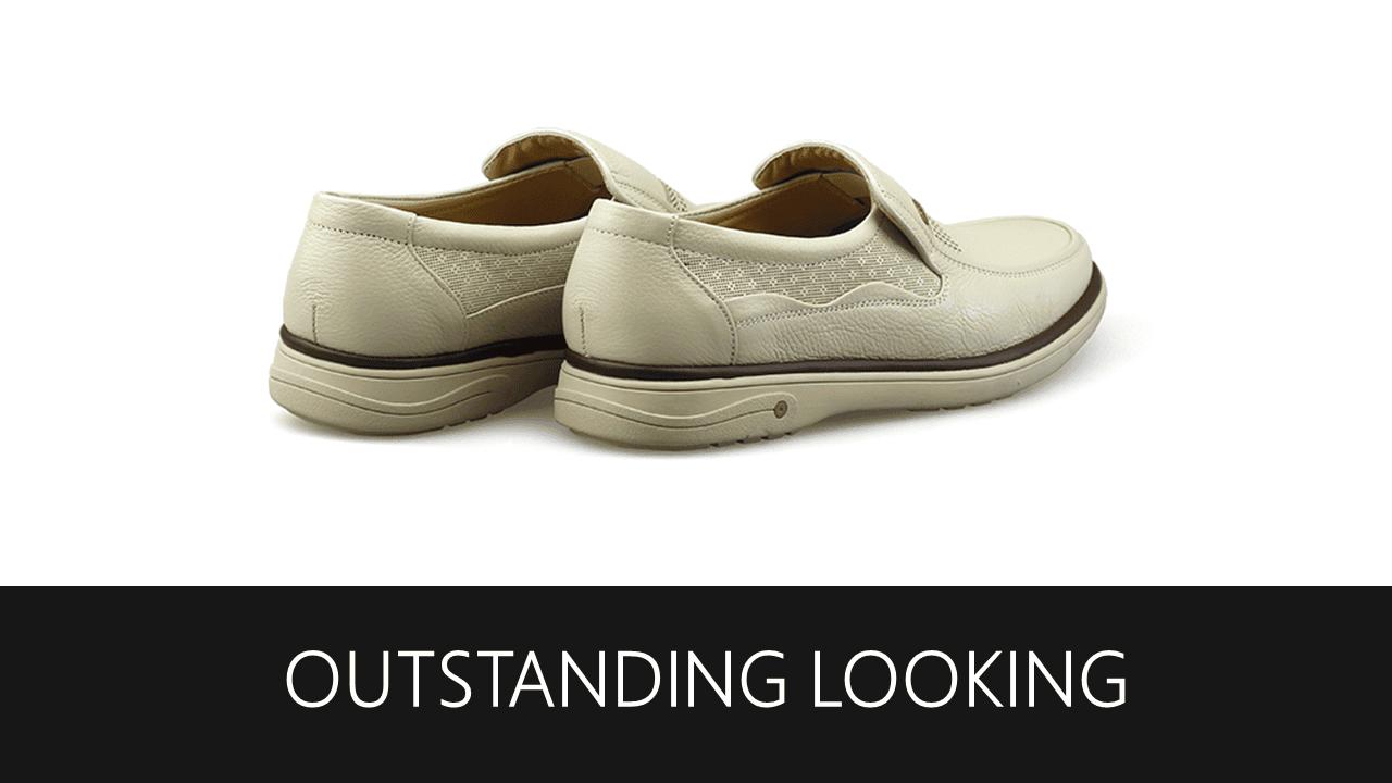 Giày lười màu trắng quý phải rành riêng cho phái mạnh GL88823T8