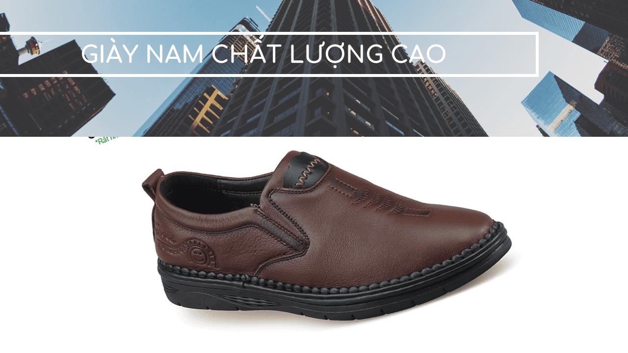 Giày lười công sở đế siêu mềm nhập khẩu nguyên chiếc 2018 GL501119N1