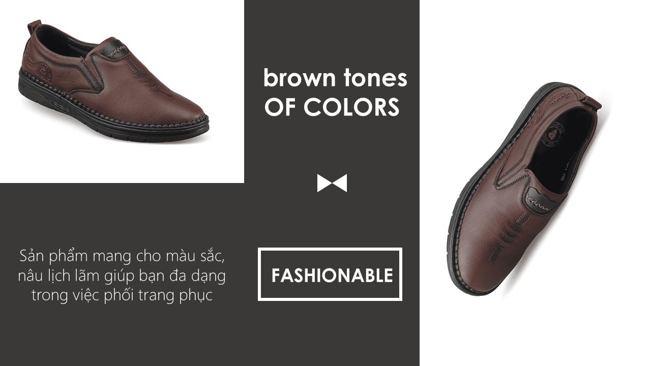 Giày lười công sở đế siêu mềm nhập khẩu nguyên chiếc 2018 GL501119N9