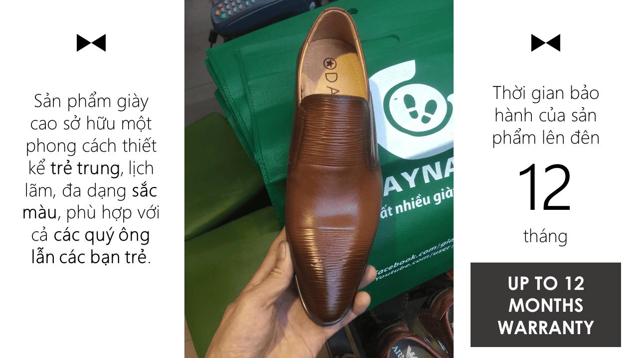 Giày lười công sở hoa văn độc lạ bắt mắt 2018 màu nâu; Mã số GL1828N9