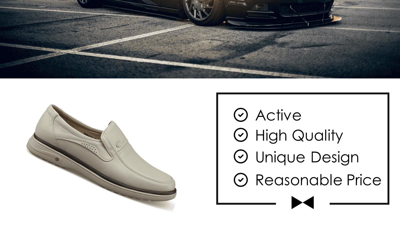 Giày lười màu trắng sữa quý phái mang đậm khí chất CEO; Mã số GL88832TS2
