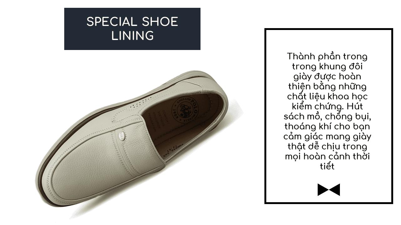 Giày lười màu trắng sữa quý phái mang đậm khí chất CEO; Mã số GL88832TS8