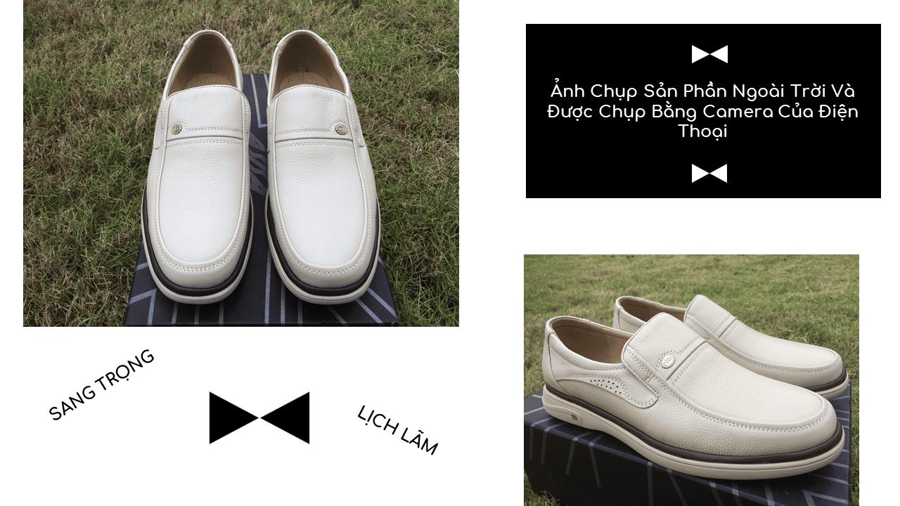 Giày lười màu trắng sữa quý phái mang đậm khí chất CEO; Mã số GL88832TS9